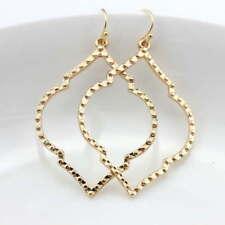 Fashion Gold Silver Rose Black Frame Filigree Drop Statement Earrings for Women