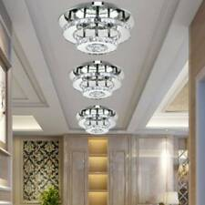 Modern 36W Round LED Crystal Ceiling Lights Chandeliers Bilayer Aisle Decor