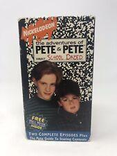 VTG The Adventures of Pete & Pete School Dazed VHS Nickelodeon Rare Tape 1994