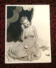 "Large 1940s Vintage Fashion Model Photograph, Girl Sundress, Robert Young 14.25"""