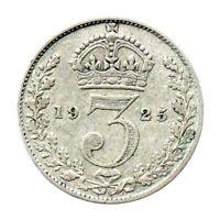 KM# 813a - Threepence - 3d - George V - Great Britain 1925 (F)