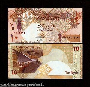 QATAR 10 RIYALS P30 2008 Replacement 99 BOAT FALCON UNC GULF ARAB GCC MONEY NOTE