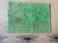 Manuel de Conduite, Entretien et Service, Jaguar XJ12 Serie 1, F171/1