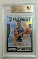 2015-16 Panini Prizm Emergent Silver Prizm D'Angelo Russell RC BGS 9.5 #18