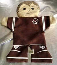 """AGS VINTAGE HAND PUPPET. """"ARIEL"""" BOY IN SPACE /BASKETBALL SUIT?. CLOTH PUPPET"""