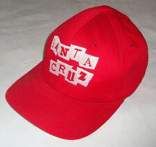 Santa Cruz Ransom Gorra - Original' 90s Skate/Snowboard / Surf Gorra Roja