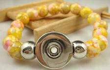 chunk snap button hot sell free jA1x new Diy handmade jade beads Bracelet fit