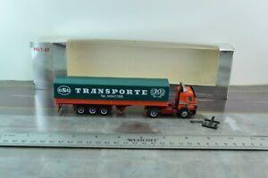 Herpa Mercedes Benz Tractor Trailer Truck  GSG Transporte 1:87 Scale