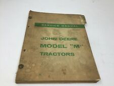 Original John Deere M Tractor Shop Service Manual 1955 OEM Free Shipping