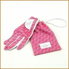 New Ladies Nicole Miller Pink Ribbon Golf Glove. Size Small Or Large
