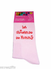 Pink Christmas Socks 1st Christmas as Mummy in Red Ladies Gift for New Mother