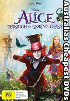 Alice Through The Looking Glass DVD NEW, FREE POSTAGE WITHIN AUSTRALIA REGION 4