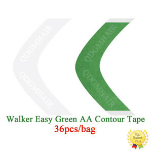 Walker Easy Green Tape AA Contour Double Sided Tape for Hair System Toupee 36pcs