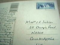 postcard used stamped franked airmail australia $1 four miles beach f1g
