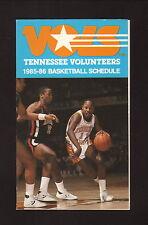 Tennessee Volunteers--1985-86 Basketball Pocket Schedule--American General Life