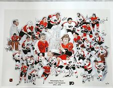 Philadelphia Flyers 1974 & 1975 Stanley Cup Championship Teams Lmtd Edition 75