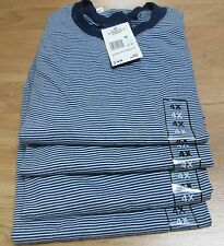 Basic Editions Stripe T-Shirt 4XL 6 Pc Big Men 50/50 Cot/Poly Whit/Navy Vintage