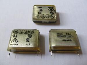 3pcs Metallized Paper Film Capacitor 100nF 0,1uF 250VAC 1250VDC Y2 MP30-Y2 Wima