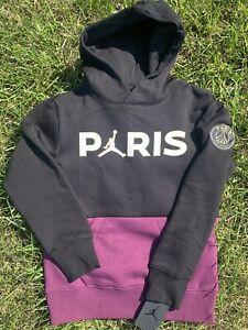 New Nike x Air Jordan x Paris Saint Germain Bordeaux Hoodie Boys S(8-10) PSG