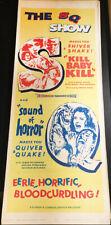 KILL BABY KILL/SOUND OF HORROR! '67 M.BAVA-D ORIGINAL U.S. INSERT FILM POSTER