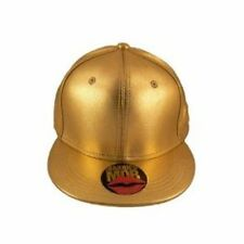 Married to the Mob MTTM NYC womens Shiny Metallic Gold Hat Fitted Size S