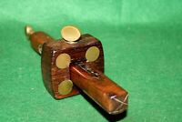 FINE & SHOWY Carpenters Rosewood & Brass Marking Mortise Gauge Scribe Inv#HB91
