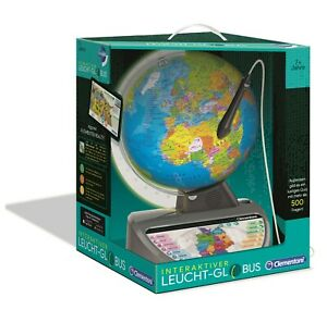 Clementoni 59183 Interaktiver Leucht-Globus Lernglobus Globus Lernspielzeug Neu
