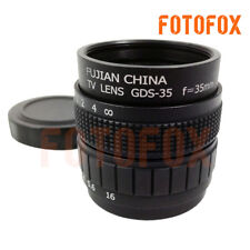 Black 35mm f1.7 C mount CCTV Lens for M4/3 E-P2 E-PL2 G2 GF2 GH2 & NEX-3 NEX-A7R