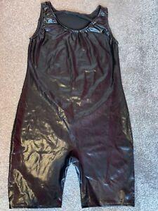 mens shiny skinsuit unitard size S/M