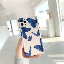 For iPhone 11 Pro Max, X/XR/Xs Max, 7/8, SE2 Butterfly Soft Silicone Phone Case