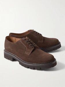 "NEW Men's GRENSON "" MELVIN "" Dark Brown Suede  Derby Shoes UK 8 G RRP £305"