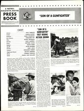SON OF A GUNFIGHTER pressbook, Russ Tamblyn, Kieron Moore, James Philbrook
