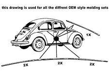VW ESCARABAJO bj.66-67 Kit de acabado Alemán calidad 0403-1