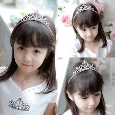 Rhinestone Crown Heart Tiara Hair Band For Kid Bridal Princess Wedding Party