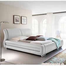 BOLZANO Polsterbett Kunstlederbett Bett Designerbett Design - 180 x 200 cm Weiß