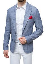Giacca uomo in lino Sartoriale blu estiva casual elegante Man's Blazer