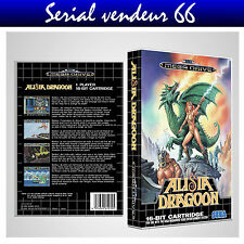 "BOX, CASE ""ALISIA DRAGOON"" . Megadrive. BOX + COVER PRINTED. NO GAME. MULTI."