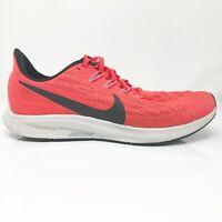 Nike Mens Air Zoom Pegasus 36 AQ2203-600 Red Black Running Shoes Lace Up Sz 7.5