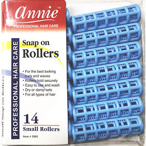 ANNIE SNAP ON ROLLERS #1001, 14 COUNT BLUE SMALL 5/8""
