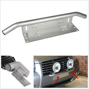 Silver Bull Bar Car SUV Off-Road Front Bumper Driving/Spot Lights Holder Bracket