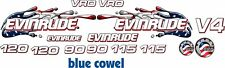 Evinrude v4 Cross Flow USA Flag splash 90 - 120 Decal Kit