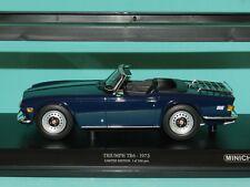 Minichamps 1/18 1973 Triumph TR6 Dark Blue LHD Limited Edition MiB