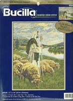 Jesus with Sheep Counted Cross Stitch Kit Bucilla 42662 Artist Greg Olsen OPENED