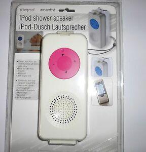 Dusch Lautsprecher mit Kordel für iPod oder MP3 Player wasserdicht