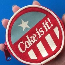 "Vintage Collectable COCA-COLA ""Coke is it!"" Zip coin purse - NEW"