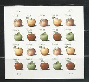 2013 # 4727-4730 33¢ Apples Pane of 20 Regular MNH