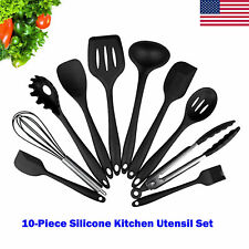 10 Pack Kitchen Utensil Set Spoon Baking Cooking Baking Tools Non-Stick Silicone