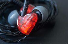 Used Red Westone UM1 Earbuds Headphones Earphones for iPod iPhone MP3 MP4