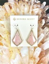 New Kendra Scott Alex Rose Quartz Gold tone Earrings