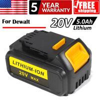 5.0Ah For Dewalt  DCB204 DCB200 DCB205 20V 20 Volt Battery Max Lithium Ion XR